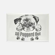 Puggerd out pug Rectangle Magnet