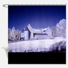 Castle of Herten in infrared Shower Curtain