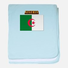 Flag of Algeria with Text baby blanket