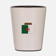 Flag of Algeria with Text Shot Glass