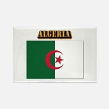 Flag of Algeria with Text Rectangle Magnet