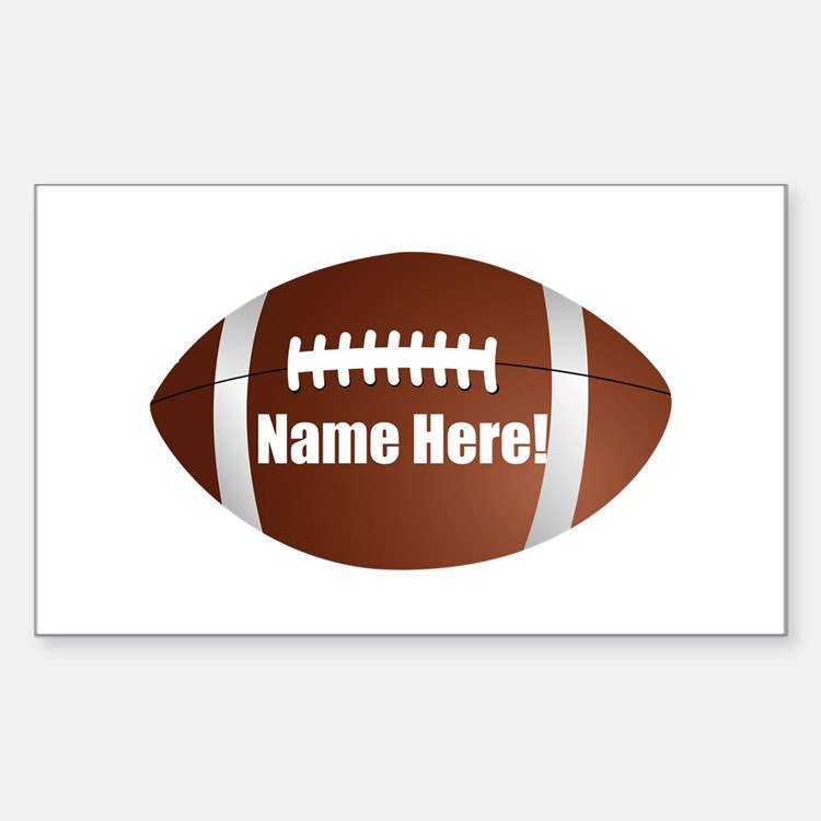 Personalized Football Sticker (Rectangle)
