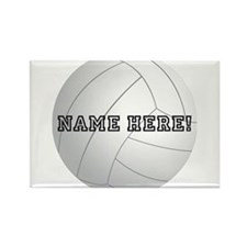 Personalized Volleyball Rectangle Magnet