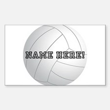 Personalized Volleyball Decal