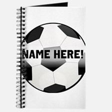 Personalized round soccer ball Journal