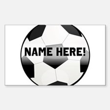Personalized round soccer ball Decal