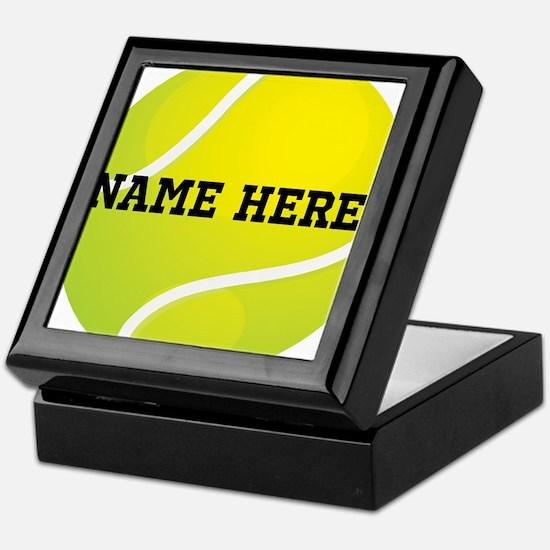 Personalized Tennis Ball Keepsake Box
