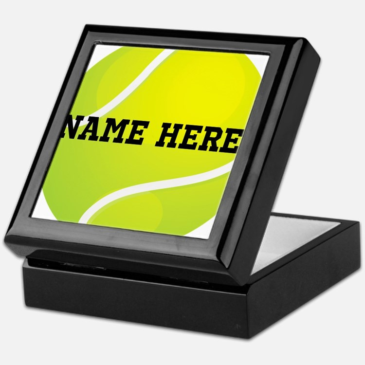 Personalized Tennis Ball Keepsake Box