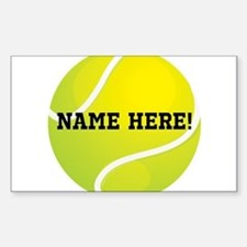 Personalized Tennis Ball Bumper Stickers
