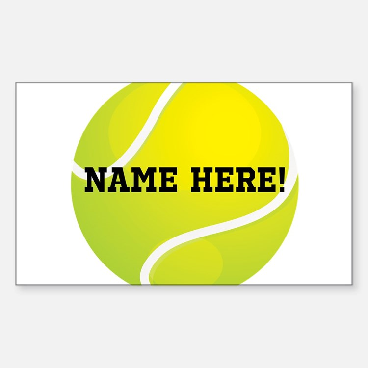 Personalized Tennis Ball Decal