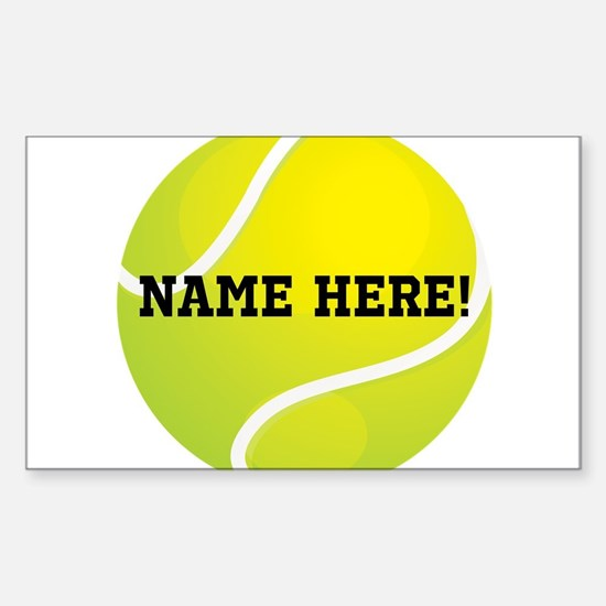 Personalized Tennis Ball Sticker (Rectangle)