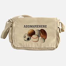 Sports Balls, Custom Name Messenger Bag