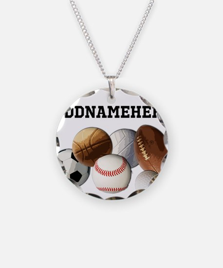 Sports Balls, Custom Name Necklace