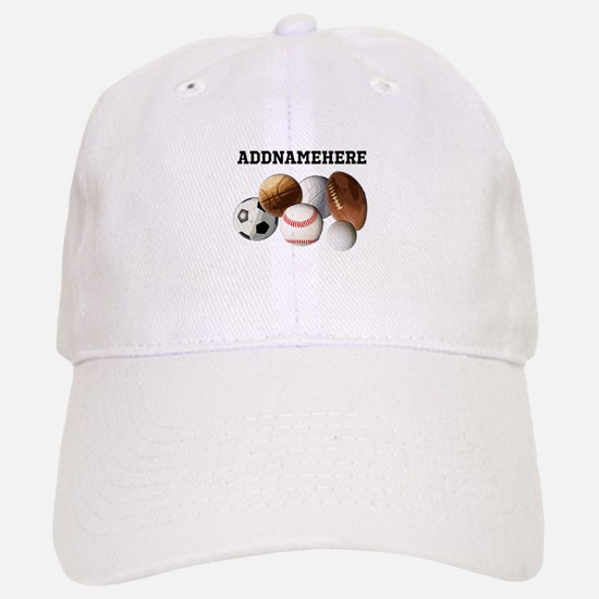 Sports Balls, Custom Name Cap