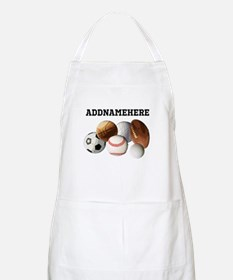 Sports Balls, Custom Name Apron