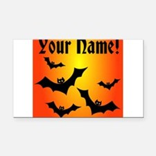 Personalized Halloween Bats Rectangle Car Magnet