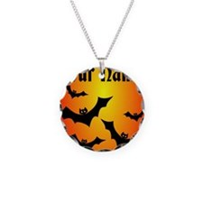 Personalized Halloween Bats Necklace