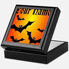 Personalized Halloween Bats Keepsake Box