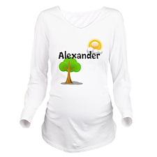 Custom Name Tree Sun Long Sleeve Maternity T-Shirt