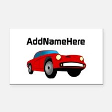 Sports Car, Custom Name Rectangle Car Magnet