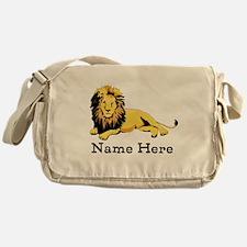 Personalized Lion Messenger Bag