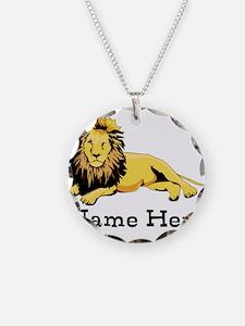 Personalized Lion Necklace