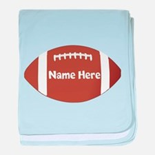 Personalized Football Ball baby blanket