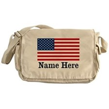 Personalized American Flag Messenger Bag