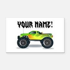 Personalized Monster Truck Rectangle Car Magnet
