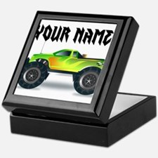 Personalized Monster Truck Keepsake Box