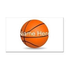 Personalized Basketball Ball Rectangle Car Magnet