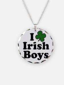 I Shamrock Love Irish Boys Necklace