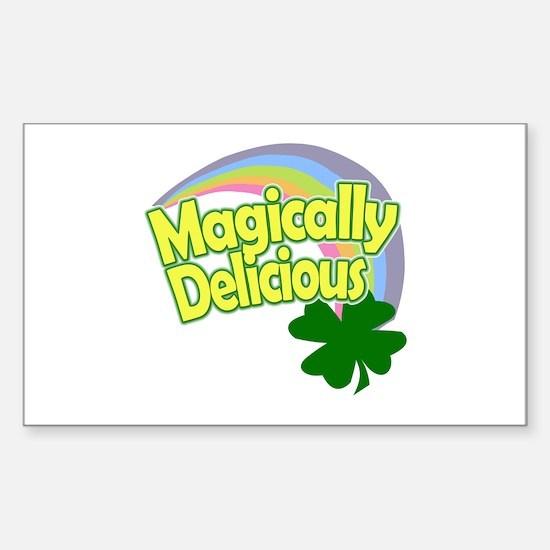 Magically Delicious Rainbow Sticker (rectangle)