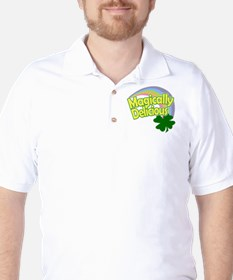 Magically Delicious Pastel Rainbow Golf Shirt