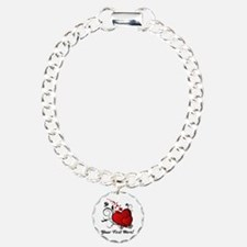 Personalized Text Hearts Bracelet