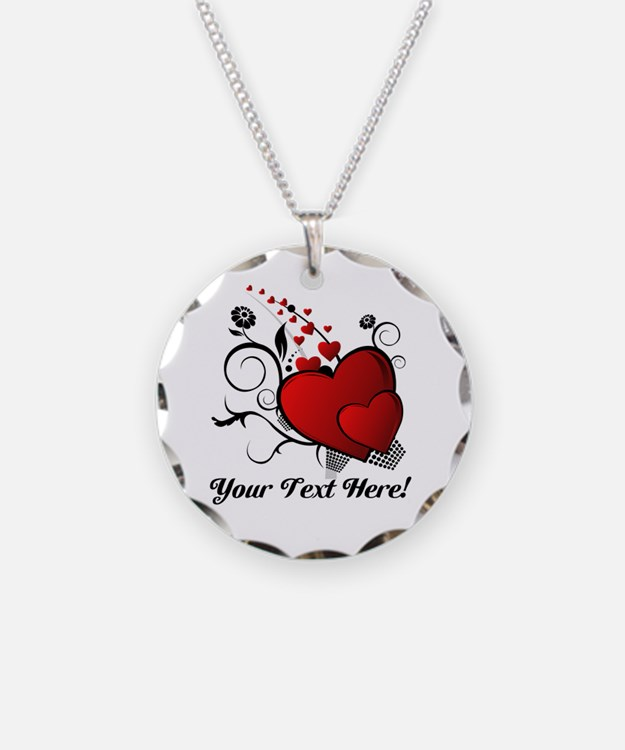 Personalized Text Hearts Necklace
