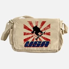 usa snowboard Messenger Bag