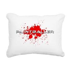 paintball paint baller Rectangular Canvas Pillow