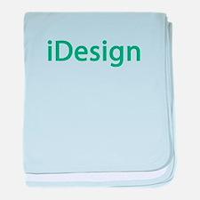 i design interior designer architect baby blanket