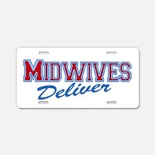 Midwife or Doula Aluminum License Plate
