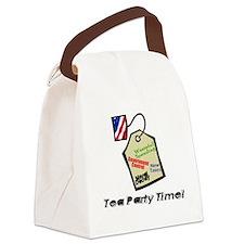 tea party revolt Canvas Lunch Bag