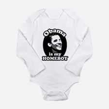 obama is my homeboy Long Sleeve Infant Bodysuit