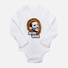 barack obama Long Sleeve Infant Bodysuit