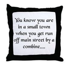 Small Towns and Tractors! Throw Pillow