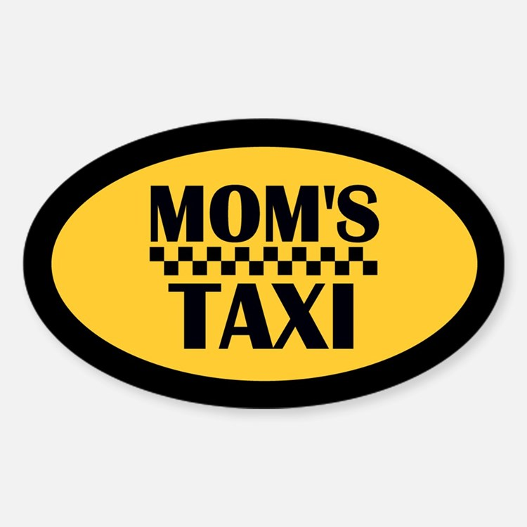 Mom's Taxi Oval Decal