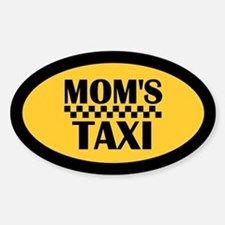 Mom's Taxi Oval Stickers