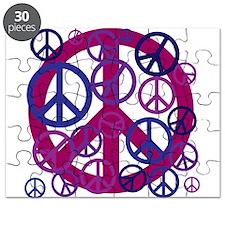 Purple Peace Sign Puzzle