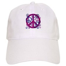 Purple Peace Sign Baseball Baseball Baseball Cap