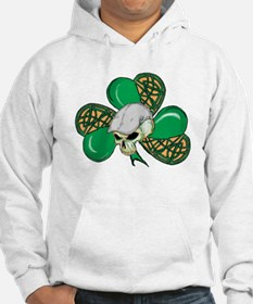 Scally Skull and Clover Hoodie