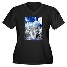 Crocus in in Women's Plus Size V-Neck Dark T-Shirt